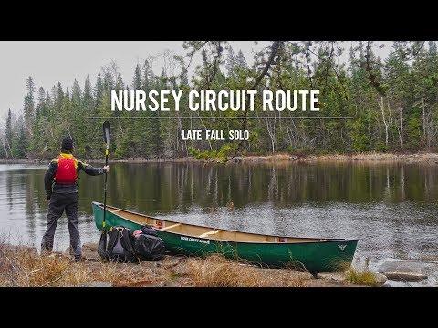 Nursey Circuit Route: Late Fall Solo Canoe Trip
