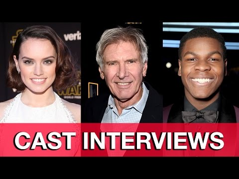 Star Wars The Force Awakens World Premiere Interviews - Harrison Ford, Mark Hamill, Daisy Ridley