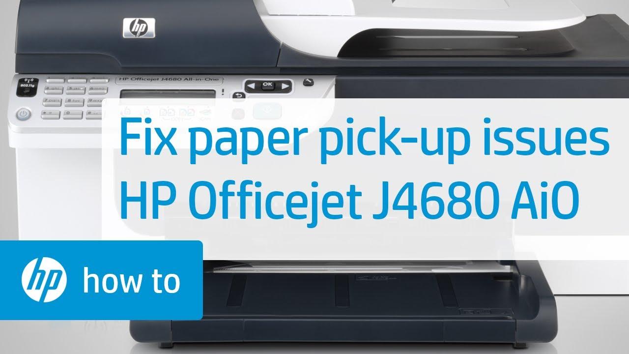 fixing paper pick up issues hp officejet j4680 all in one printer rh youtube com HP Officejet J4680 Wireless Setup HP Officejet J4500