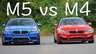 BMW F10 M5 vs F82 M4 rolling drag race