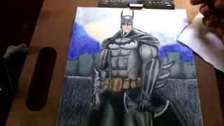 Batman (How to Draw Arkham Asylum Batman) Time Lapse