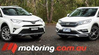 Video 2016 Honda CR-V v Toyota RAV4 Comparison download MP3, 3GP, MP4, WEBM, AVI, FLV Oktober 2018