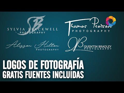 Logos de fotografía gratis fuentes incluidas (PSD Box)
