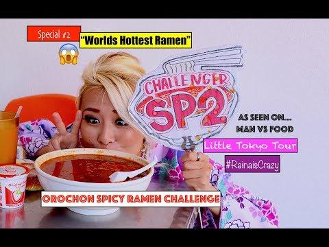 Orochon Ramen Challenge (Special #2) | Little Tokyo Tour | Man vs Food | RainaisCrazy