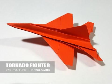 Paper Jet Fighter How To Make A Airplane That Flies Fast Tornado You