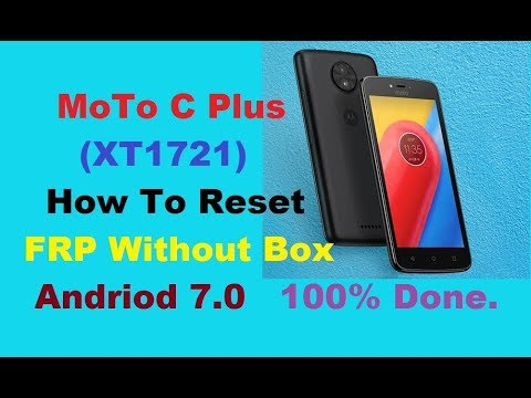 Moto XT1721 FRP Bypass 7 0 Without Any Box 100% Done