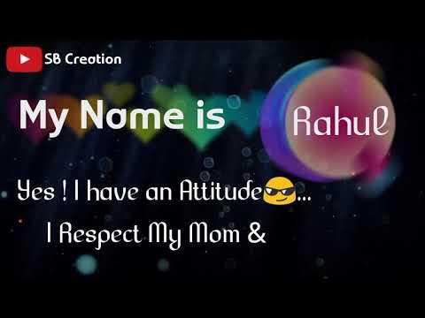 My name is (Rahul Roy)