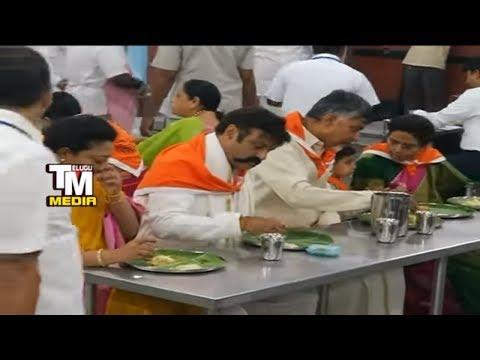 Balakrishna And  Chandrababu Naidu Visits Tirumala With His Family