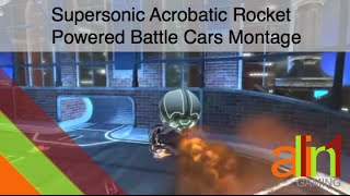 Supersonic Acrobatic Rocket Powered Battle Cars Montage