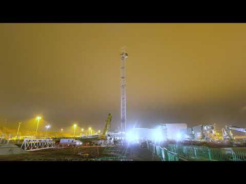 Manchester Airport Transformation - First tower crane