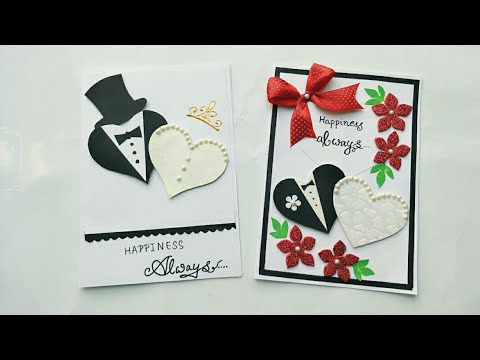 2 Simple and Cute Wedding Anniversary Card Ideas/Handmade Wedding Anniversary Cards/Wedding Cards