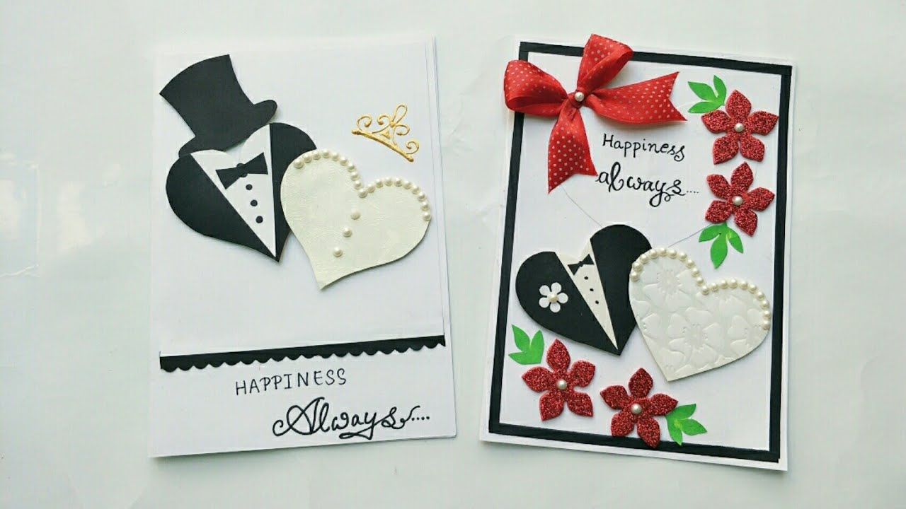 2 Simple And Cute Wedding Anniversary Card Ideas/Handmade