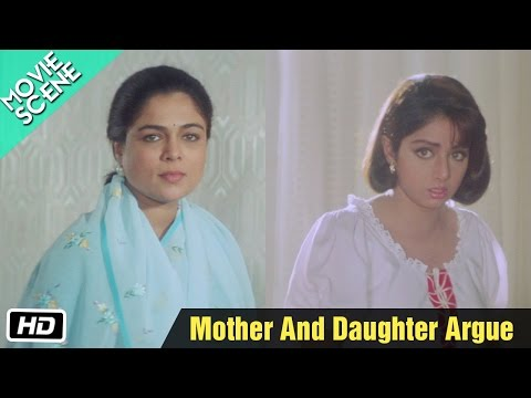 Mother And Daughter Argue - Movie Scene - Gumrah - Reema Lagoo, Sridevi