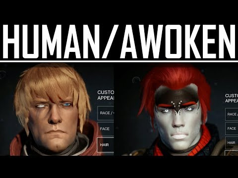 New Destiny Gameplay -- Human/Awoken Character Creation!