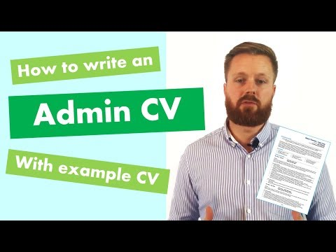 Administrator CV Writing Guide + Example CV [Land Top Admin Jobs]
