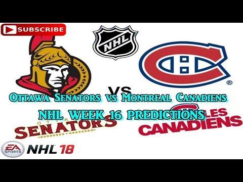 Ottawa Senators vs Montreal Canadiens | #NHL 2017 - 2018 week 16 | Predictions #NHL18