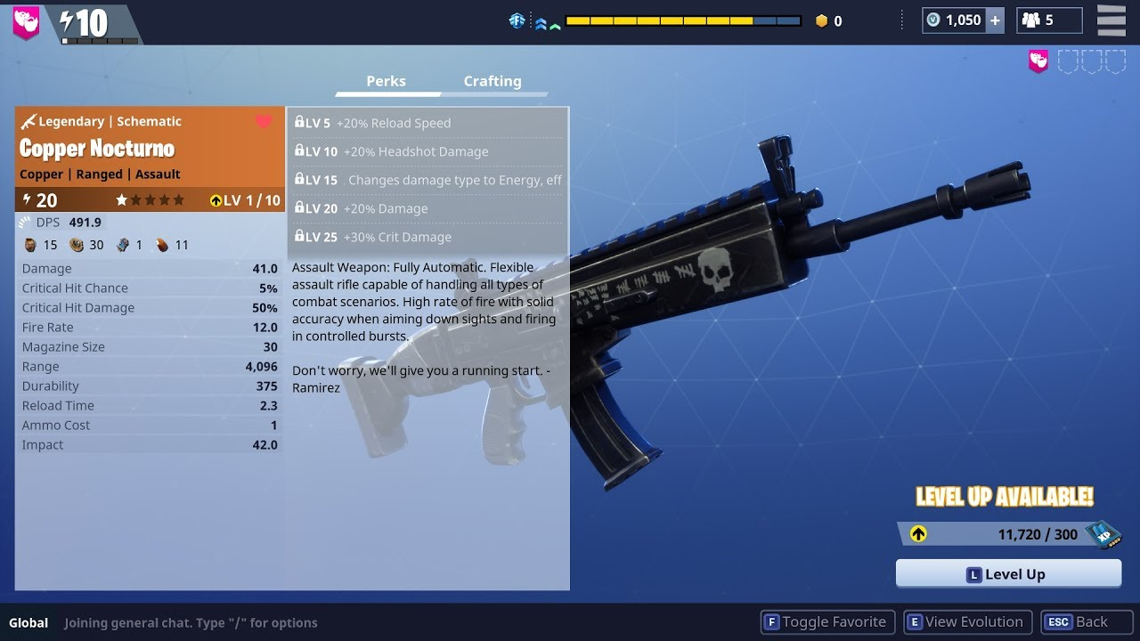 Nocturno Legendary Weapon Review Fortnite YouTube