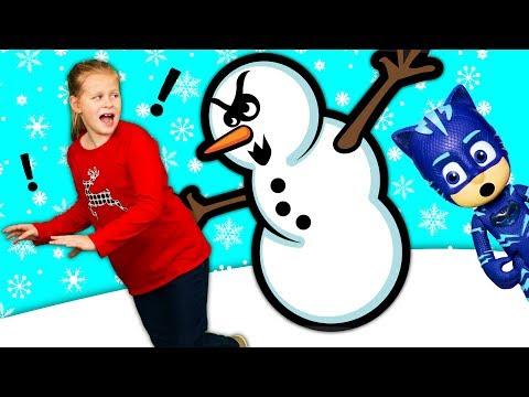 ASSISTANT &  Friends Winter Wonderland Fun! PJ Masks Hide and Seek