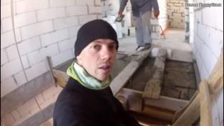 ЗАЛИВКА армопояса и плиты перекрытия второго этажа