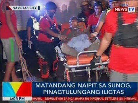 BP: Matandang naipit sa sunog, pinagtulungang iligtas sa Navotas