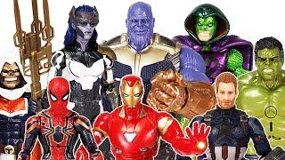 The Avengers vs Thanos, Villains! Go~! Iron Man, Thor, Hulk, Spider-Man, Captain America