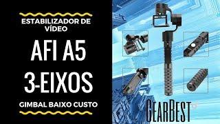 Teste do estabilizador de vídeo gimbal AFI A5 3-Eixos