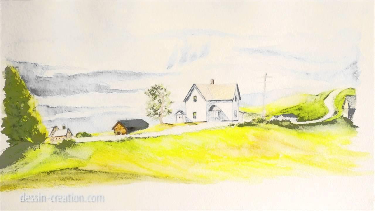 Apprendre dessiner aux crayons aquarellables youtube - Apprendre a dessiner des maisons ...