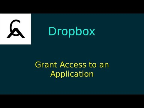 Dropbox REST APIs - Authorize an Application