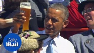 Obama enjoys a traditional Bavarian welcome - Daily Mail