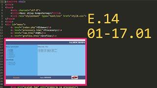 1. Praktyczny Egzamin E14 Arkusz - E.14-01-17.01 (PhP) 2017 #e14 #ee09