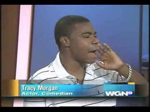 Tracy Morgan appears on WGN in an, um, intereresting state