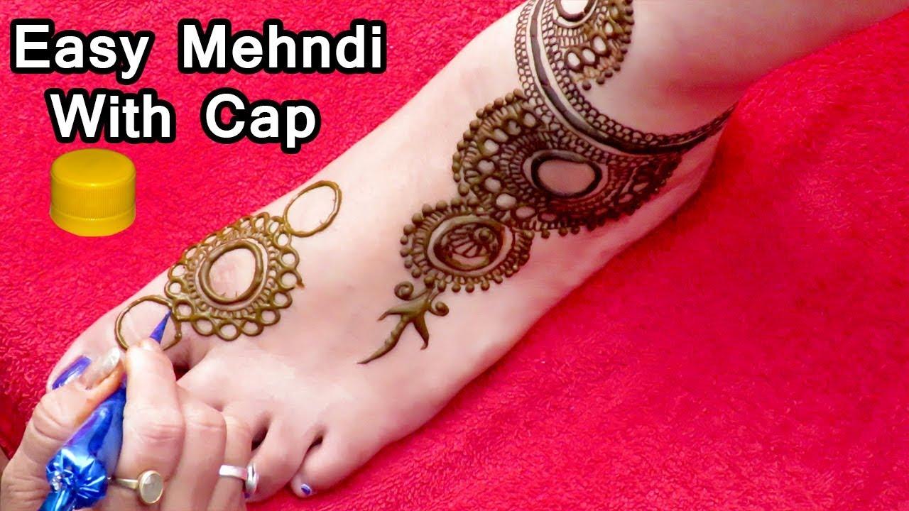 Stylish Gol Tikki Mehndi Design For Feet