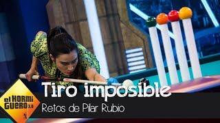 Pilar Rubio se la juega en un reto de billar imposible - El Hormiguero 3.0