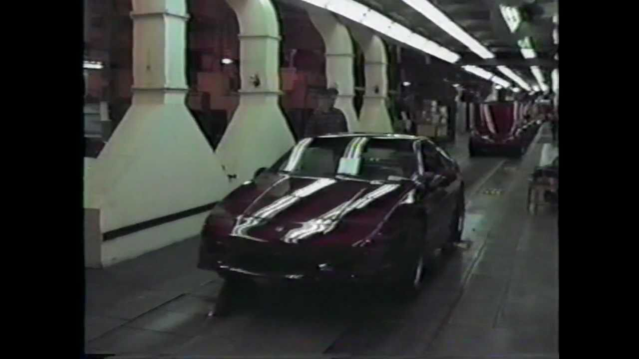 pontiac fiero rare factory footage actual production line