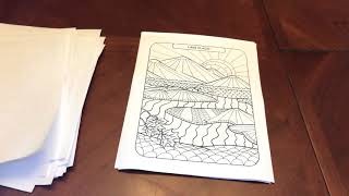 Unboxing Amazing America New York Grown-Up Coloring Pages
