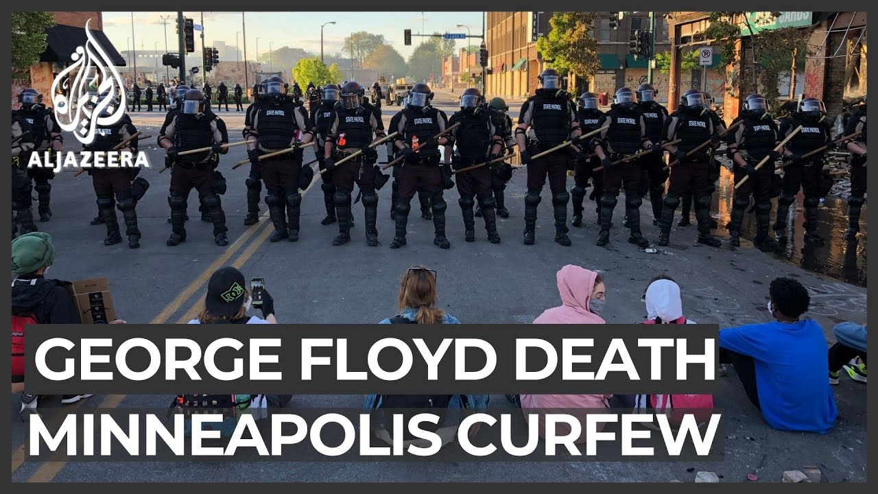 George Floyd: Cop charged with murder, Minneapolis sets curfew