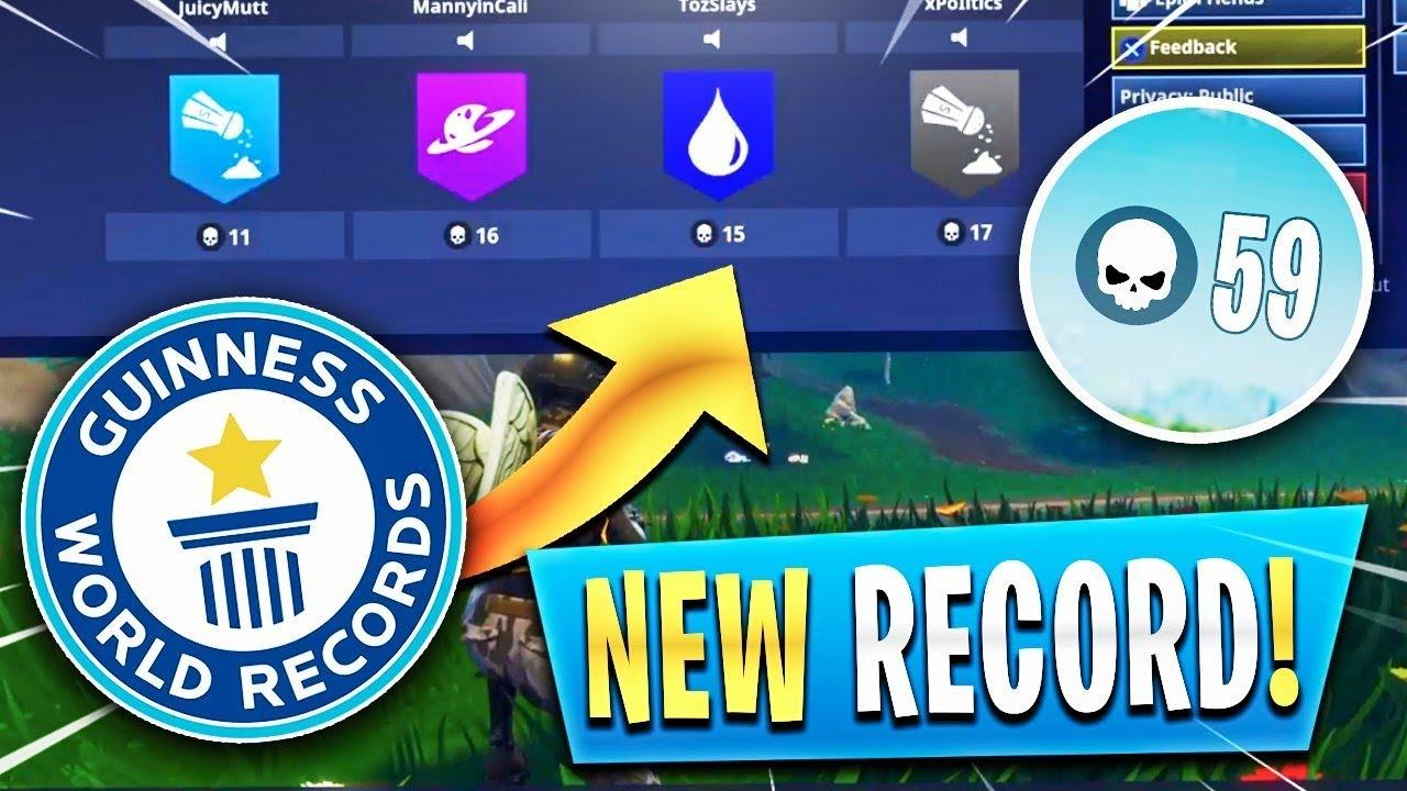 New World Record 59 Kills Fortnite Battle Royale Most Kills Youtube