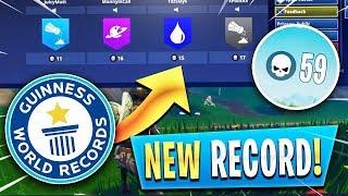 NEW World Record 59 KILLS! (Fortnite Battle Royale MOST KILLS)