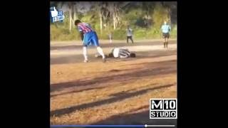 Soccer Most Horrific foul. Tag a friend and share with a player that  plays like this.