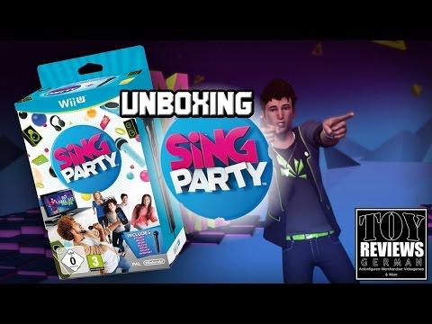 Sing Party (Nintendo Wii U) | German Unboxing (Deutsch)