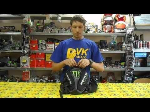 Сумка - кофр на хвост мотоцикла Monster Energy черная