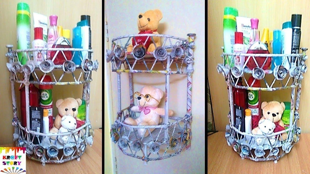 Diy newspaper wall mount rack 2 newspaper organizer for Diy crafts youtube channels