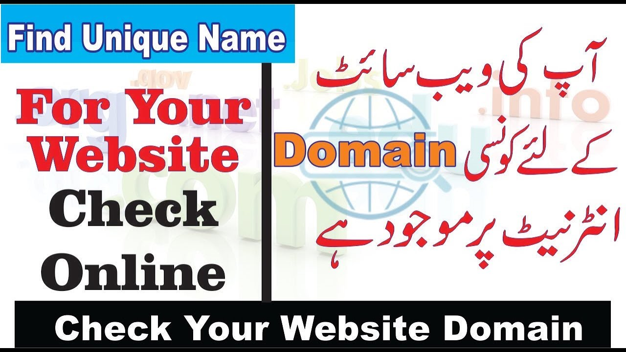 How To Choose Perfect Domain Name For Website Check Username