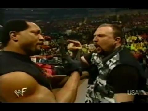 The APA is born - Some pay, Dudleys write a check; Hardy Boyz thru 3+ tables - WWF 1/31/00