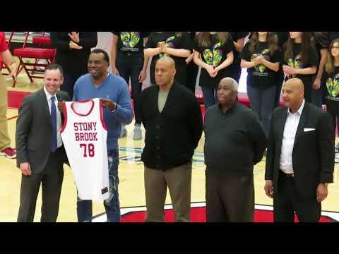 1978 Stony Brook Patriots Men's Basketball Team Honored Pre-Game vs Hartford - February 03, 2018