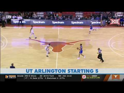 Texas vs UT Arlington Men's Basketball Highlights