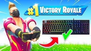 Como ficar confortável no teclado & mouse rápido! (Battle Royale do Fortnite)