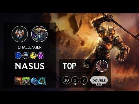Nasus Top vs Malphite - EUW Challenger Patch 10.12