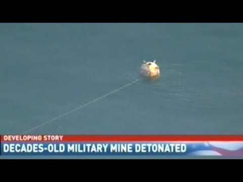 Unexploded Military Mine Found Floating In Puget Sound!