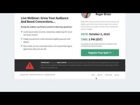 OptimizePress Club: Register - Webinar Page Template